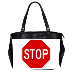 Stop Sign Office Handbags (2 Sides)  by Valentinaart