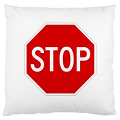 Stop Sign Large Cushion Case (two Sides) by Valentinaart