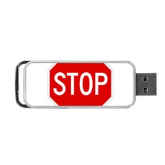 Stop Sign Portable Usb Flash (one Side) by Valentinaart