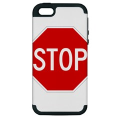 Stop Sign Apple Iphone 5 Hardshell Case (pc+silicone) by Valentinaart