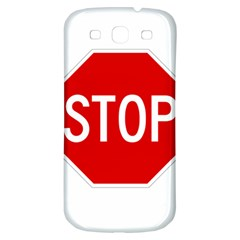 Stop Sign Samsung Galaxy S3 S Iii Classic Hardshell Back Case by Valentinaart