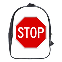 Stop Sign School Bags (xl)  by Valentinaart