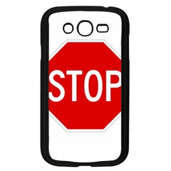 Stop Sign Samsung Galaxy Grand Duos I9082 Case (black) by Valentinaart