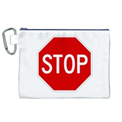 Stop Sign Canvas Cosmetic Bag (xl) by Valentinaart