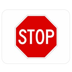 Stop Sign Double Sided Flano Blanket (medium)  by Valentinaart