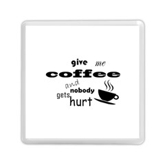 Give Me Coffee And Nobody Gets Hurt Memory Card Reader (square)  by Valentinaart