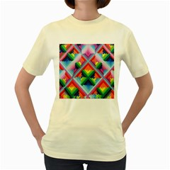 Rainbow Chem Trails Women s Yellow T Shirt