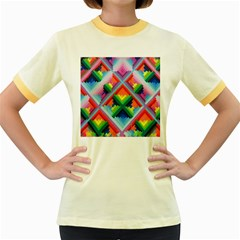 Rainbow Chem Trails Women s Fitted Ringer T Shirts by Nexatart
