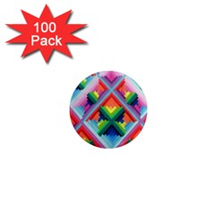 Rainbow Chem Trails 1  Mini Magnets (100 Pack)