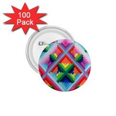Rainbow Chem Trails 1 75  Buttons (100 Pack)  by Nexatart