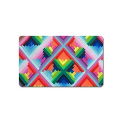 Rainbow Chem Trails Magnet (name Card)