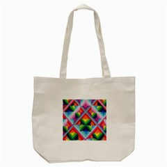Rainbow Chem Trails Tote Bag (cream) by Nexatart