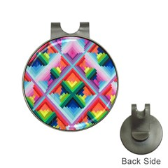 Rainbow Chem Trails Hat Clips With Golf Markers by Nexatart
