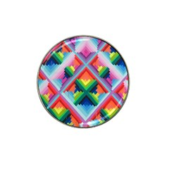 Rainbow Chem Trails Hat Clip Ball Marker (10 Pack) by Nexatart