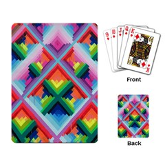 Rainbow Chem Trails Playing Card