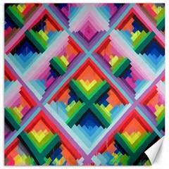 Rainbow Chem Trails Canvas 20  X 20