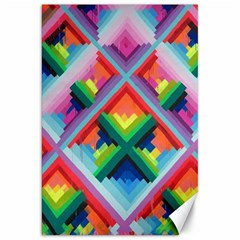 Rainbow Chem Trails Canvas 20  X 30   by Nexatart