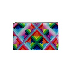Rainbow Chem Trails Cosmetic Bag (small)