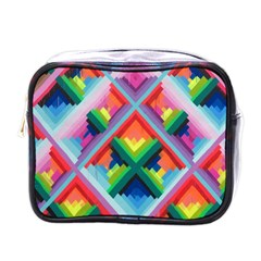 Rainbow Chem Trails Mini Toiletries Bags by Nexatart