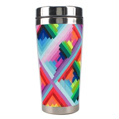 Rainbow Chem Trails Stainless Steel Travel Tumblers