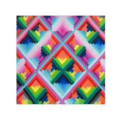Rainbow Chem Trails Small Satin Scarf (square)