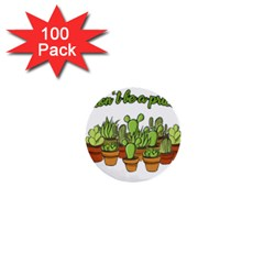 Cactus   Dont Be A Prick 1  Mini Buttons (100 Pack)  by Valentinaart