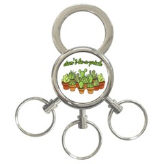 Cactus   Dont Be A Prick 3 Ring Key Chains by Valentinaart
