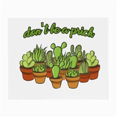 Cactus   Dont Be A Prick Small Glasses Cloth by Valentinaart