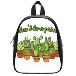 Cactus - Dont be a prick School Bags (Small)  Front