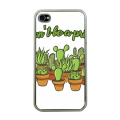 Cactus   Dont Be A Prick Apple Iphone 4 Case (clear) by Valentinaart