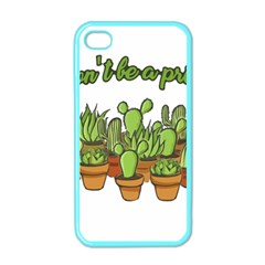 Cactus   Dont Be A Prick Apple Iphone 4 Case (color) by Valentinaart