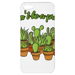 Cactus   Dont Be A Prick Apple Iphone 5 Hardshell Case by Valentinaart