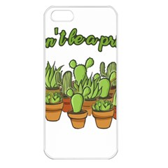 Cactus   Dont Be A Prick Apple Iphone 5 Seamless Case (white) by Valentinaart