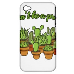 Cactus   Dont Be A Prick Apple Iphone 4/4s Hardshell Case (pc+silicone) by Valentinaart