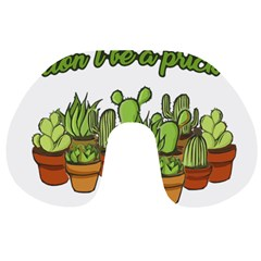 Cactus   Dont Be A Prick Travel Neck Pillows by Valentinaart