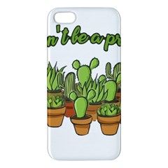 Cactus   Dont Be A Prick Iphone 5s/ Se Premium Hardshell Case by Valentinaart