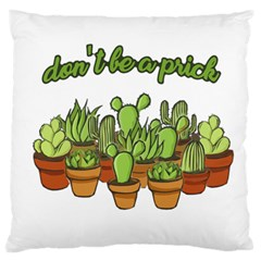 Cactus   Dont Be A Prick Standard Flano Cushion Case (one Side) by Valentinaart