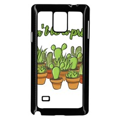 Cactus   Dont Be A Prick Samsung Galaxy Note 4 Case (black) by Valentinaart