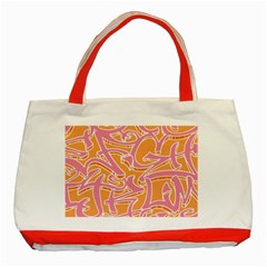 Abc Graffiti Classic Tote Bag (red) by Nexatart