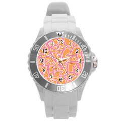 Abc Graffiti Round Plastic Sport Watch (l)