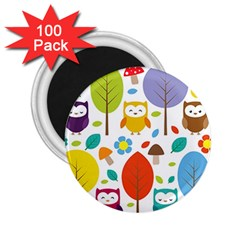 Cute Owl 2 25  Magnets (100 Pack)