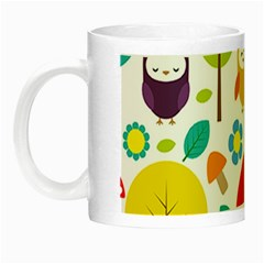 Cute Owl Night Luminous Mugs by Nexatart