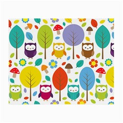 Cute Owl Small Glasses Cloth by Nexatart