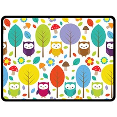 Cute Owl Fleece Blanket (large)  by Nexatart