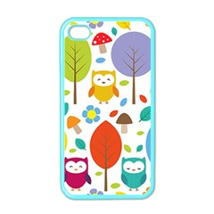 Cute Owl Apple Iphone 4 Case (color) by Nexatart