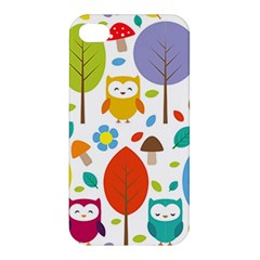Cute Owl Apple Iphone 4/4s Hardshell Case