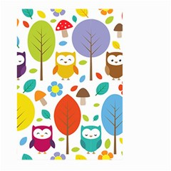 Cute Owl Large Garden Flag (two Sides) by Nexatart