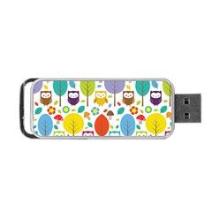 Cute Owl Portable Usb Flash (two Sides)