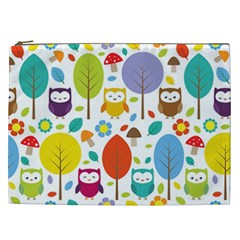 Cute Owl Cosmetic Bag (xxl)  by Nexatart