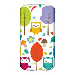 Cute Owl Samsung Galaxy S4 Classic Hardshell Case (pc+silicone)